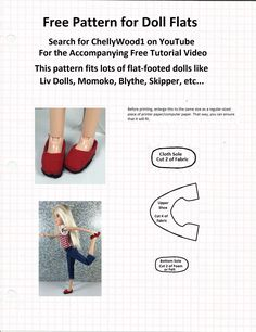 free-pattern-for-flat-footed-doll-shoes.jpg (1693×2197)