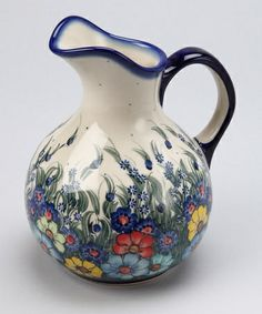 Gorgeous! Take a look at this Oskar Pitcher by Lidia's Polish Pottery on #zulily today!