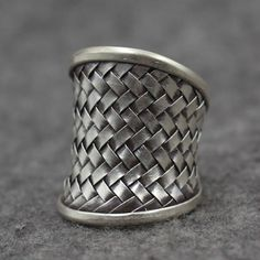 Women's Sterling Silver Braided Wrap Ring