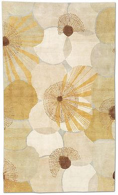 ASHA CARPETS - Poppies gold - GoodWeave certified child-labor-free