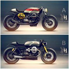 • Moto Guzzi cafe racer • Sketches made for Doc Jensen in Germany, A goes…