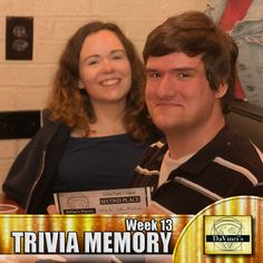 2nd place winner.  Join us Wednesday's 7pm. http://davincisdelivers.com/trivia-signup/
