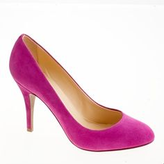 Mona suede pumps in wild berry - J. Crew. As soon as my foot is healed colorful shoes are in my future!