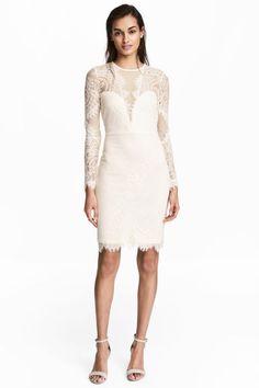 Dantel Elbise - Natürel beyaz - Ladies   H&M TR