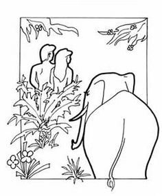 in the garden of eden adam and eve bing images - Adam Eve Story Coloring Pages