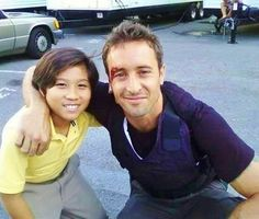 ♥♥♥ Ethan Garrido and Alex O'Loughlin - BTS H50 - ep 1.09