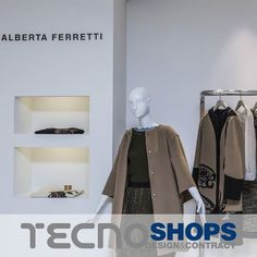 An essential exhibition #space for a #brand that glorifies timeless #femininity.  #AlbertaFerretti http://bit.ly/Tecnoshops