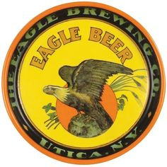 Eagle Brewing Company Tin Serving Tray