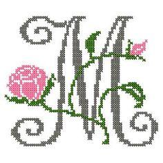 Cross Stitching, Cross Stitch Embroidery, Embroidery Patterns, Stitch Patterns, Cross Stitch Letters, Cross Stitch Heart, Alphabet Charts, Monogram Alphabet, Satin Stitch