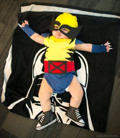 Handmade x men wolverine baby costume cosplay baby shower gift his baby wolverine at big wow comicfest 2014 photo by martin wong solutioingenieria Images