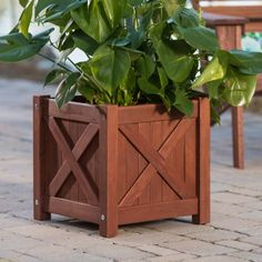 Belham Living Redding Wood Square Planter - x x You are in the right place about large Garden Planters Here we offer you the most beautiful pictures about the flower Garden Planters you ar Large Garden Planters, Square Planters, Patio Plants, Outdoor Planters, Flower Planters, Flower Pots, Outdoor Decor, Indoor Outdoor, Wood Planter Box