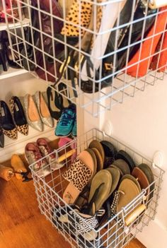 Weekend Project: Custom Shoe Closet Weekend Project: Custom Shoe Closet Two easy tutorials to DIY your own custom shoe closet over the weekend. Two easy tutorials to DIY your own custom shoe closet over the weekend Shoe Storage Diy, Diy Shoe Rack, Closet Storage, Shoe Closet Organization, Organizing Shoes, Shoe Storage For Toddler, Shoe Storage Ideas For Closet, Diy Shoe Organizer, Flip Flop Organizer