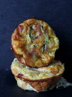 Sabrina's Køkken: Små æggekager med squash, gulerødder og skinke