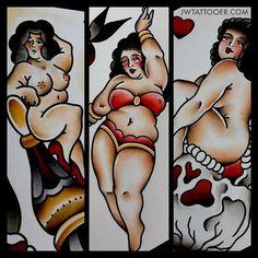 chubby-bunnies:    ourendlessdays:    Jan Willem    More fat girl tattoos plz.
