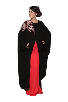 Akhawat : Signature Collection New Hand Embroidered,Sparkle Butterfly Abaya & Shayla Abaya Fashion, Modest Fashion, Boho Fashion, Girl Fashion, Burka Style, Hijab Fashion Inspiration, Style Inspiration, Butterfly Abaya, Arabic Dress