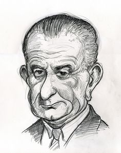 Lyndon B. Johnson, 36th president of the United States 1963-1969.