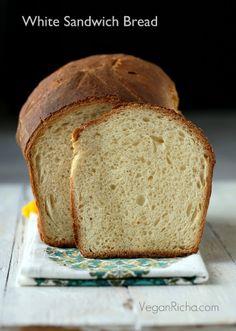 White Sandwich Bread. Vegan Recipe - Vegan Richa