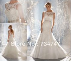 Muslim A-Line Wedding Dress Bridal Gown Crew Neckline Lace Applique  Crystals Beaded Sash Covered 621b8817db3e