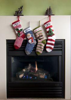 Modern Christmas Stocking Crochet Patterns - Instant Download