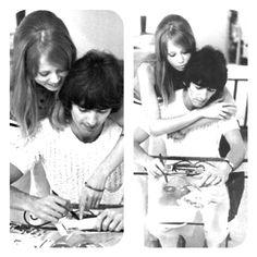#Honeymoon #George and Pattie #Pattie Boyd #George Harrison