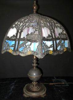 Lamps Slag Glass Stained Glass Other Art Glass On