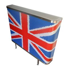 YOYO Mosaic Union Jack radiator cover in traditional Red, White and Blue (From Modern Radiator Covers and Window Shutters)