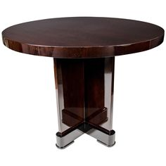 Exceptional Art Deco Occasional/Center Hall Table in Ebonized Mahogany