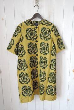 2017SS/ミナペルホネン mina perhonen hope リネン刺繍ロングコート