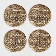 Golden worked metal coasters (set of 4) - Coasters - Tableware | Zara Home United Kingdom