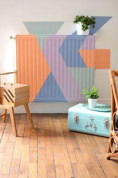 DIY Radiateur couleurs pastel peinture edding