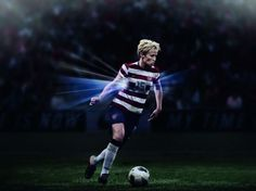 Actor and former soccer player saul lisazo people places megan rapinoe in new u soccer home kit voltagebd Image collections