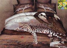 Miękka brązowa pościel z gepardem