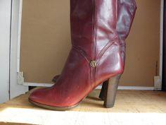 Sz 7.5M Vintage Etienne Aigner Oxblood Leather by ManeaterVintage, $52.00