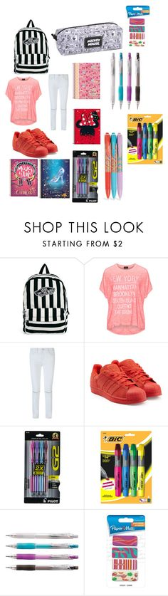 """""""Untitled #369"""" by princessvreni ❤ liked on Polyvore featuring Vans, Replace, Rebecca Minkoff, adidas Originals, Paper Mate and Vera Bradley"""