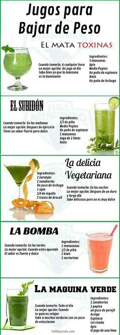 Look for juicing recipes to detox your body? Try these fresh and simple juice and smoothie recipes made from whole fruits and vegetables! Look for juicing recipes to d Weight Loss Meals, Weight Loss Workout Plan, Weight Lifting, Healthy Detox, Healthy Drinks, Healthy Foods, Easy Detox, Vegan Detox, Healthy Weight