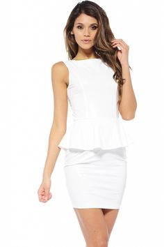 Wetlook Peplum Dress $42