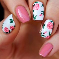 Pink and white nails are perfect if you are going for the feminine-chic look. Fresh out of ideas? Try one of these pink and white nail designs today!  #nails #nailart #naildesign #pinknails #whitenails