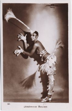 Josephine Baker at the Folies Bergere 1930s