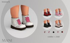 Madlen Mani Boots New leather boots for kids and. Toddler Cc Sims 4, Sims 4 Toddler Clothes, Sims 4 Cc Kids Clothing, Sims 4 Mods Clothes, Toddler Shoes, Toddler Outfits, Sims Four, Sims 4 Mm, The Sims 4 Bebes