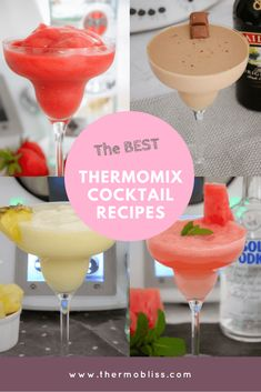 Everyone knows that the best part of owning a Thermomix is that it can make kick-ass cocktails, right! Well we certainly think so! And so, we've put together a collection of our very favourite Thermomix Watermelon Diet, Watermelon Recipes, Thermomix Cocktail, Quick Recipes, Clean Eating Snacks, Cocktail Recipes, Smoothies, Favorite Recipes, Quirky Cooking
