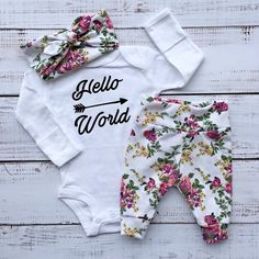 newborn baby girl going home outfit hospital outfit newborn baby girl coming home outfit baby little sister baby girl shower gift new baby by EatSleepDrool on Etsy Going Home Outfit, Girls Coming Home Outfit, Take Home Outfit, Baby Outfits Newborn, Baby Girl Newborn, Baby Baby, Twin Newborn, New Baby Girls, Baby Girl Fashion