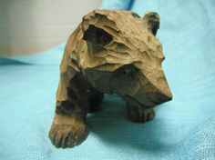 Hand Whittled Wood Bear
