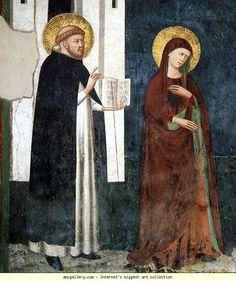 Pietro Cavallini - Crocifissione, dettaglio - affreschi - 1308 circa - Cappella Brancaccio, Chiesa San Domenico Maggiore, Napoli