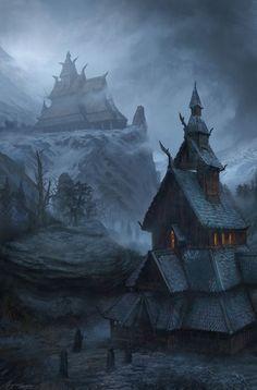 Dark Fantasy Art, Fantasy Kunst, Fantasy Concept Art, Fantasy City, Fantasy Places, High Fantasy, Fantasy Rpg, Medieval Fantasy, Fantasy Artwork