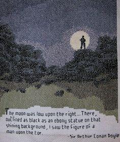 Sherlock Holmes Cross-stitch by Allisona, via Flickr