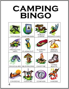 Print our camping themed BINGO game with 12 unique cards featuring words and pictures of camping gear. This is a great rainy day camp activity for any level or a pre-camp progression activity as Juniors begin to earn their Camping Badge.…