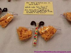 Preschool Math Snacks: Butterfly Math