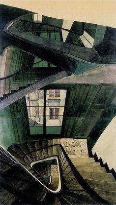 Sam Szafran (1934-) - Scala 54, Via della Senna (1990)
