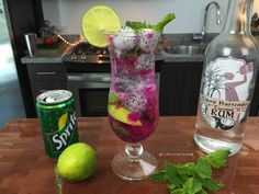 The Dragon Fruit Mojito - For more delicious recipes and drinks, visit us here: www.tipsybartender.com