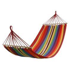 FCH Canvas Camping Hammock Swinging Bed 75'x31' with Spreader Bar Portable for Backyard, Porch, Outdoor or Indoor Colorful ** Don't get left behind, see this great product : Camping Furniture